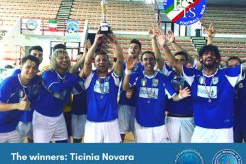 Calcio a 5 AMF: La Ticinia Novara si aggiudica il 6°Scudetto della FIFS