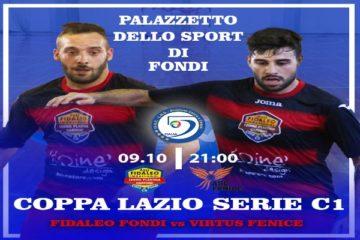 Coppa Lazio Serie C1: Fidaleo Fondi C5, nel primo turno c'è la Virtus Fenice
