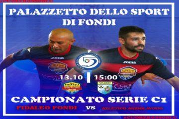 Fidaleo Fondi C5: pari in Coppa, sabato arriva l'Anziolavinio