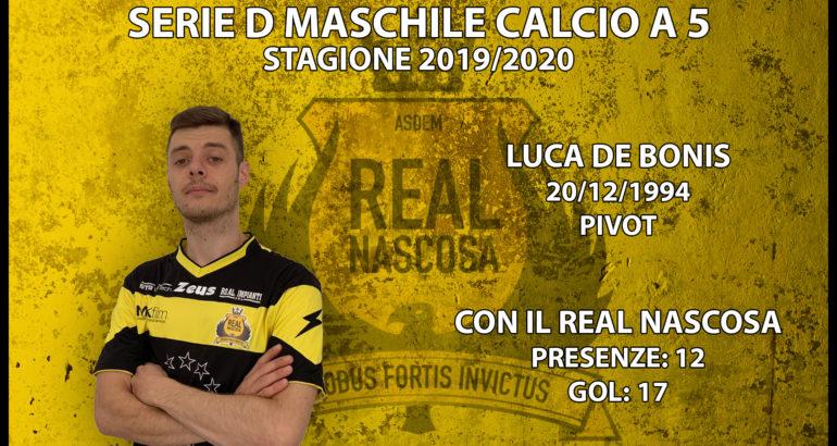Il bomber Luca De Bonis resta con il Real Nascosa anche la prossima stagione