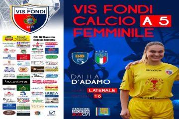 La Vis Fondi sposa la linea verde: Dalila D'Adamo promossa in prima squadra