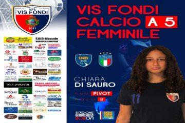 """Vis Fondi modello """"Forever Young"""": Chiara Di Sauro promossa in prima squadra"""